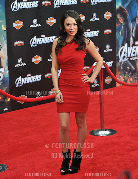 "Janel Parrish at the world premiere of ""Marvel's The Avengers"" at the El Capitan Theatre, Hollywood..April 11, 2012  Los Angeles, CA.Picture: Paul Smith / Featureflash"