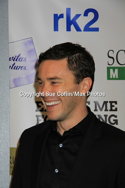 """Guiding Light Tom Pelphrey stars in the film and at the premiere of """"Excuse Me For Living"""" on October 12, 2012 at AMC Loews Village 7, New York City, New York.  (Photo by Sue Coflin/Max Photos)"""