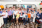 Mike O'Shea seated front centre The Harbour, Coonanna celebrated his 70th birthday with family and friends in the Fertha Bar Cahersiveen on Sunday evening.