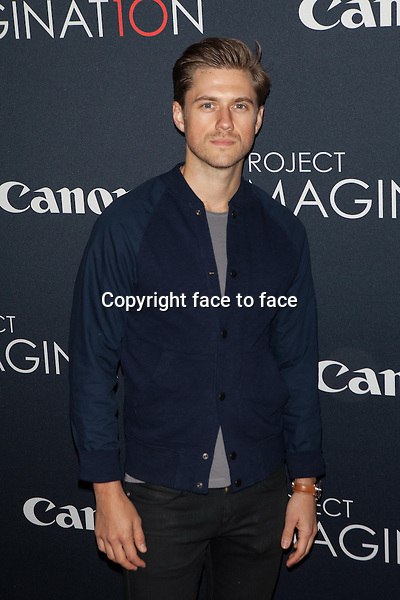 NEW YORK, NY - OCTOBER 24, 2013: Aaron Tveit attends the Premiere Of Canon's Project Imaginat10n Film Festival at Alice Tully Hall on October 24, 2013 in New York City. <br />