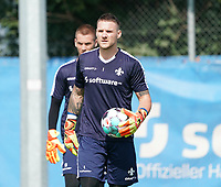 Torwart Marcel Schuhen (SV Darmstadt 98) - 01.08.2020: SV Darmstadt 98 Trainingsauftakt, Stadion am Boellenfalltor, 2. Bundesliga, emonline, emspor<br /> <br /> DISCLAIMER: <br /> DFL regulations prohibit any use of photographs as image sequences and/or quasi-video.