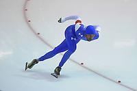 SCHAATSEN: HEERENVEEN: 14-12-2014, IJsstadion Thialf, ISU World Cup Speedskating, Shani Davis (USA), ©foto Martin de Jong