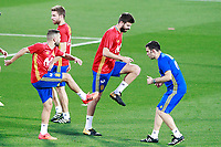 Spain's Jordi Alba (l) and Gerard Pique during training session. October 2,2017.(ALTERPHOTOS/Acero)<br /> <br /> Foto Alterphotos / Insidefoto <br /> ITALY ONLY