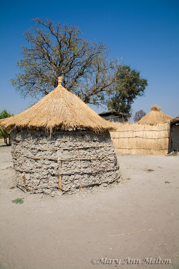 An African house constructed from elephant dung with thatched roof.