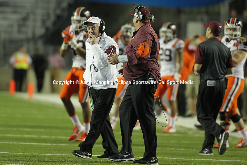 December 26, 2015: Virginia Tech head coach Frank Beamer during the 2nd half of the Camping World Independence Bowl at Independence Stadium in Shreveport, LA. Justin Manning/ESW/CSM