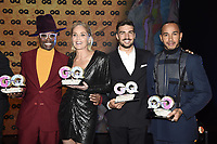 Billy Porter, Sharon Stone, Mariano Di Vaio and Lewis Hamilton at the 21st presentation of the GQ Men of the Year Awards 2019 at the Komische Oper. Berlin, November 7, .2019. Credit: Action Press/MediaPunch ***FOR USA ONLY***