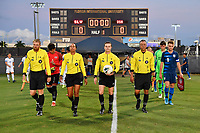 Miami, FL - Tuesday, October 15, 2019:  Referees, USMNT U-23 Starting XI during a friendly match between the USMNT U-23 and El Salvador at FIU Soccer Stadium.
