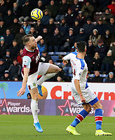 Burnley's Ashley Barnes vies for possession with Crystal Palace's Martin Kelly<br /> <br /> Photographer Rich Linley/CameraSport<br /> <br /> The Premier League - Burnley v Crystal Palace - Saturday 30th November 2019 - Turf Moor - Burnley<br /> <br /> World Copyright © 2019 CameraSport. All rights reserved. 43 Linden Ave. Countesthorpe. Leicester. England. LE8 5PG - Tel: +44 (0) 116 277 4147 - admin@camerasport.com - www.camerasport.com