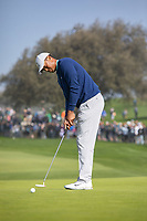 25th January 2020, Torrey Pines, La Jolla, San Diego, CA USA;  Tiger Woods putting during round 3 of the Farmers Insurance Open at Torrey Pines Golf Club on January 25, 2020