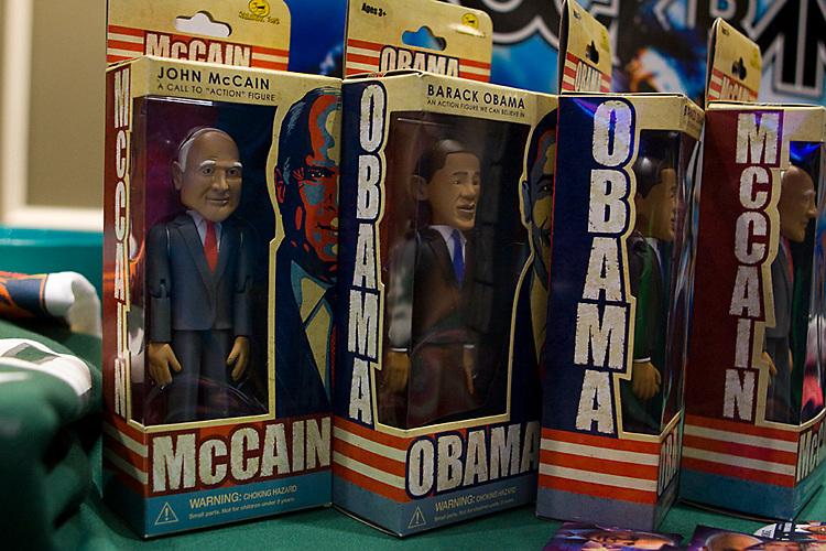 1. John McCain and Barack Obama bobble heads were raffled off by UPC.during the Election Results Party at Baker Center on November 4th,.2008.