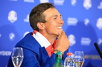 Thorbjorn Olesen (Team Europe) in media interview after the sunday singles at the Ryder Cup, Le Golf National, Paris, France. 30/09/2018.<br /> Picture Phil Inglis / Golffile.ie<br /> <br /> All photo usage must carry mandatory copyright credit (&copy; Golffile | Phil Inglis)