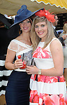 Pictured enjoying the summer fayre on the Ross Hotel / Lane Bar Champagne & Cocktail Marquee at Killarney Races ladies Day on Thursday were from left, Marie Vaughan, macroom and Claire Ambrose, Macroom.<br /> Picture by Don MacMonagle<br /> <br /> <br /> PR Photo from Ross Hotel