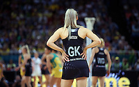 09.10.2016 Silver Ferns Jane Watson in action during the Silver Ferns v Australia netball test match played at Qudos Bank Arena in Sydney. Mandatory Photo Credit ©Michael Bradley.