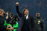 Chelsea manager Antonio Conte celebrates on a lap of honour after the game         <br /> <br /> <br /> Photographer Craig Mercer/CameraSport<br /> <br /> The Premier League - Chelsea v Watford - Monday 15th May 2017 - Stamford Bridge - London<br /> <br /> World Copyright &copy; 2017 CameraSport. All rights reserved. 43 Linden Ave. Countesthorpe. Leicester. England. LE8 5PG - Tel: +44 (0) 116 277 4147 - admin@camerasport.com - www.camerasport.com