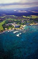 Mauna Lani resort amongst the landscape of the Big Island coast