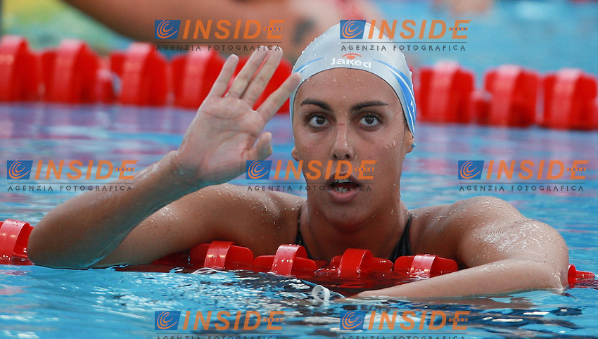Roma 1st AUGUST 2009 - 13th Fina World Championships .From 17th to 2nd August 2009.Women's  800m Freestyle.Alessia Filippi ITA Bronze Medal.Roma2009.com/InsideFoto/SeaSee.com
