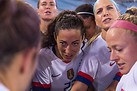 , FL - : Christen Press #23 and Julie Ertz #8 of the United States in the huddle during a game between  at  on ,  in , Florida.