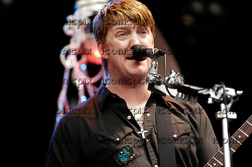 QUEENS OF THE STONE AGE - vocalist guitarist Josh Homme - performing live on Day 3 of the Wireless Festival held in Hyde Park London UK - 14 Jun 2007.  Photo credit: George Chin/IconicPix