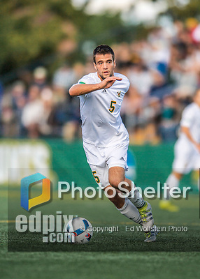 24 September 2016: University of Vermont Catamount Midfielder Charlie DeFeo, a Graduate from Newfields, NH, in action against the Dartmouth College Big Green at Virtue Field in Burlington, Vermont. The teams played to an overtime 1-1 tie in front of an Alumni Weekend crowd of 1,710 fans. Mandatory Credit: Ed Wolfstein Photo *** RAW (NEF) Image File Available ***