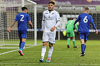 Pictured: Keiran Evans of Swansea. Tuesday 01 May 2018<br /> Re: Swansea U19 v Cardiff U19 FAW Youth Cup Final at the Liberty Stadium, Swansea, Wales, UK