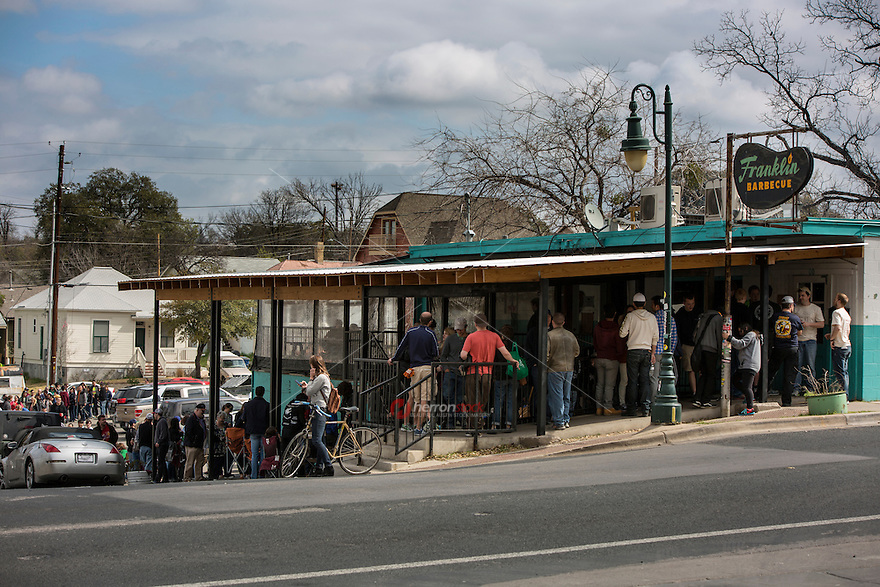 Each day this popular East Austin barbecue restaurant sells out, so most customers arrive before 8 a.m., reserving their place in line for when the doors open at 11 a.m.