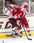 Bill Arnold (BC - 24), Alexx Privitera (BU - 6) - The Boston College Eagles defeated the visiting Boston University Terriers 5-2 on Saturday, December 1, 2012, at Kelley Rink in Conte Forum in Chestnut Hill, Massachusetts.