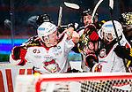 Stockholm 2014-10-14 Ishockey Hockeyallsvenskan AIK - Malm&ouml; Redhawks :  <br /> Malm&ouml; Redhawks Frederik Storm i slagsm&aring;l med AIK:s spelare <br /> (Foto: Kenta J&ouml;nsson) Nyckelord:  AIK Gnaget Hockeyallsvenskan Allsvenskan Hovet Johanneshov Isstadion Malm&ouml; Redhawks slagsm&aring;l br&aring;k fight fajt gruff