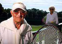 USTA National Mens 85 & 90 Grass Court Championships.Longwood Cricket Club..86=yr-old Bob Klein with wife Barbara