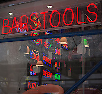 A restaurant supply store on the Bowery in New York, seen on Sunday, April 28, 2013.  (© Richard B. Levine)