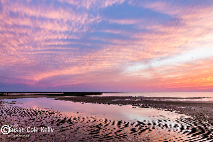 Sunset at First Encounter Beach, Eastham, Cape Cod, Massachusetts, USA