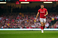Pictured: Gareth Davies of Wales during the Guinness six nations match between Wales and England at the Principality Stadium, Cardiff, Wales, UK.<br /> Saturday 23 February 2019