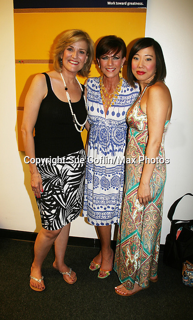 As The World Turns' Colleen Zenk along with her daughter and actresses Karen Mason (L) and Pearl Sun (R) star as CAP 21 presents SUMMER STOCK NYC, a celebration of the Broadway Musical on July 17, 2010 at the Michael Schimmel Center for the Arts, Pace University, NYC. (Photo by Sue Coflin/Max Photos)
