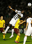 Fudbal, Champions league,Group H season 2010/2011.Partizan Vs. Arsenal.Pierre Boya, left and Denilson, right.Beograd, 29.09.2010..foto: Srdjan Stevanovic/Starsportphoto ©