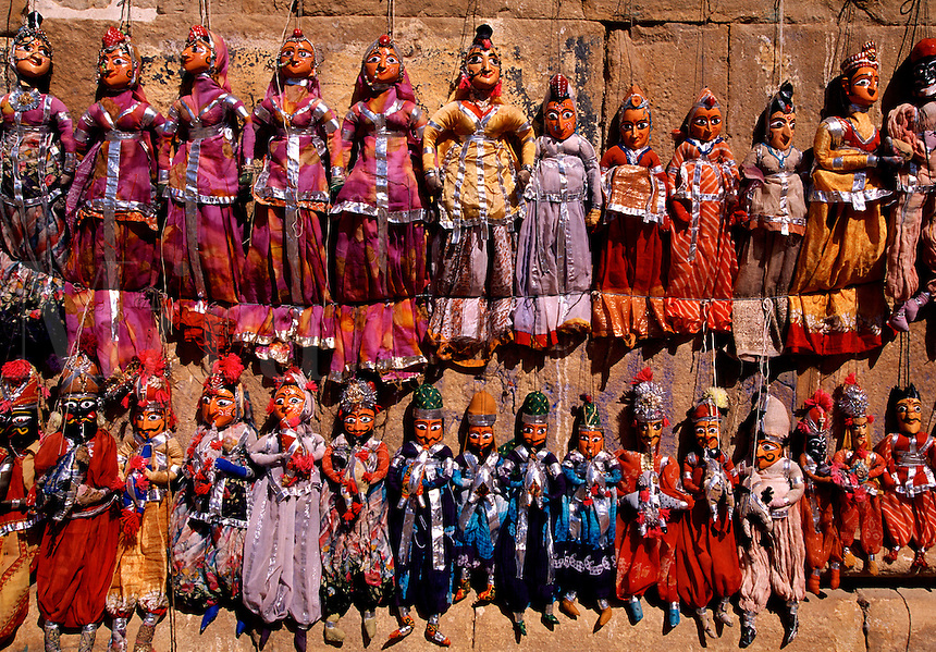 Wooden puppets for sale Jaisalmer Rajasthan India