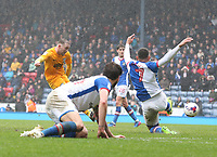 Preston North End's Aidan McGeady scores his sides equalising goal to make the score 2-2 in the third minute of injury time<br /> <br /> Photographer Stephen White/CameraSport<br /> <br /> The EFL Sky Bet Championship - Blackburn Rovers v Preston North End - Saturday 18th March 2017 - Ewood Park - Blackburn<br /> <br /> World Copyright &copy; 2017 CameraSport. All rights reserved. 43 Linden Ave. Countesthorpe. Leicester. England. LE8 5PG - Tel: +44 (0) 116 277 4147 - admin@camerasport.com - www.camerasport.com
