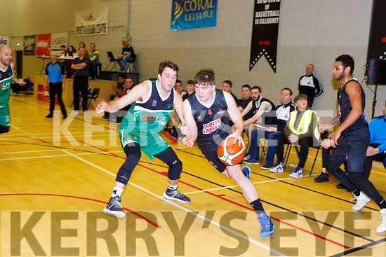 Cian ClernonScotts Lakers goes past Matt St Amour Limerick Celtics in Killarney Saturday night