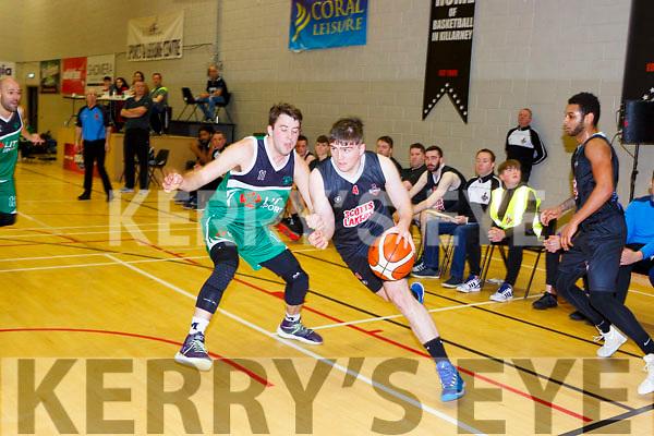 Cian ClernonScotts Lakers goes past Matt St Amour Limerick Celtics in Killarney Saturday night