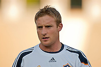 LOS ANGELES, CA – July 16, 2011: Chris Birchall (8) of the  LA Galaxy during the match between LA Galaxy and Real Madrid at the Los Angeles Memorial Coliseum in Los Angeles, California. Final score Real Madrid 4, LA Galaxy 1.