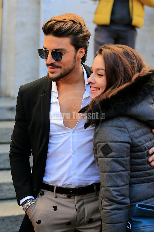 Mariano Di Vaio before the Salvatore Ferragamo show during the Milan Fashion Week Men's wear Fall/Winter 2016/2017, in Milan on January 17, 2016.