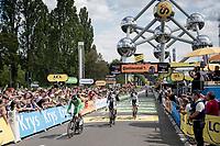 Peter Sagan (SVK/Bora-Hansgrohe) & team finishing the TTT<br /> <br /> Stage 2 (TTT): Brussels to Brussels(BEL/28km) <br /> 106th Tour de France 2019 (2.UWT)<br /> <br /> ©kramon