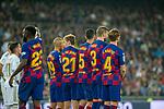 Members of FC Barcelona during La Liga match. Mar 01, 2020. (ALTERPHOTOS/Manu R.B.)