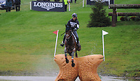 Blair Atholl, Scotland, UK. 12th September, 2015. Longines  FEI European Eventing Championships 2015, Blair Castle. Arianne Schivo (ITA) riding Quefira de l\'92Ormeau during the Cross country phase © Julie Priestley