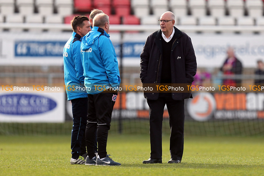 Dagenham manager John Still and his staff afterDagenham & Redbridge vs Eastleigh, Vanarama National League Football at the Chigwell Construction Stadium on 1st April 2017