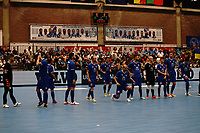 20191010 - HALLE: Halle-Gooik players are pictured before the UEFA Futsal Champions League Main Round match between FP Halle-Gooik (BEL) and Kherson (UKR) on1 0th October 2019 at De Bres Sportcomplex, Halle, Belgium. PHOTO SPORTPIX | SEVIL OKTEM