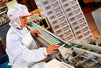 Quality control on manufacturing production line.