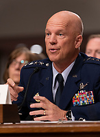 General John W. Raymond, USAF appears before the Senate Armed Service Committee