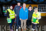 Getting ready for road for the Bill Kirby Memorial Walk fundraiser for the Kerry Hospice on St Stephens morning. L to r: Ann Ryle, Tim Sheehan, Michael O'Connor, Jimmy Cronin and Ciss O'Connor.