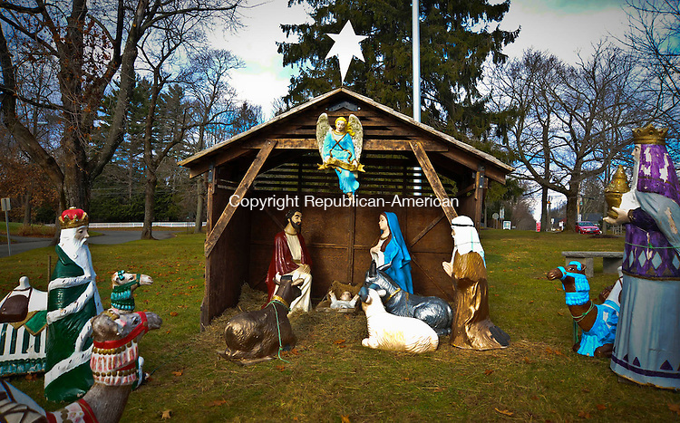BETHLEHEM, CT 11 DECEMBER- 121112JS07-FOR COUNTRY LIFE USE ONLY-The nativity display on the Green in Bethlehem. .Jim Shannon Republican American