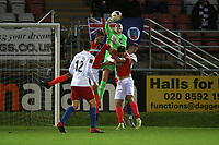 Elliot Justham of Dagenham punches clear during Dagenham & Redbridge vs Maidenhead United, Vanarama National League Football at the Chigwell Construction Stadium on 7th December 2019