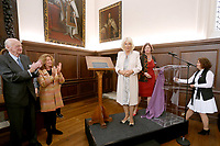 12 June 2019 - London, UK - Camilla Duchess of Cornwall, gestures during a visit to attend a reception to mark the reopening of Fulham Palace following the completion of a restoration project. Photo Credit: ALPR/AdMedia